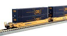 Kato N Scale MAXI-IV 3 bien Car Set con 6 CSX contenedores Ttx #724794 ~ 106-6175