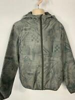 BOYS QUICKSILVER GREY CASUAL LIGHT WEIGHT HOOD RAINCOAT JACKET KID AGE 12 YRS