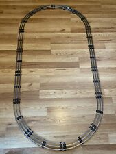 14 SECTIONS LIONEL 027 GAUGE TRACK Oval Wood grain TIES 6 STRAIGHT 8 CURVE RR