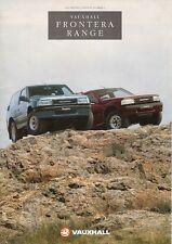 Vauxhall Frontera 1991-92 UK Market Launch 12pp Sales Brochure 3-dr 5-dr