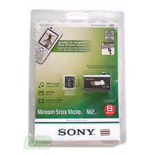 NEW GENUINE SONY 8GB Memory Stick Micro M2 Ericsson PSP Go w Slider Readser OEM