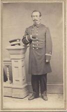 PORTRAIT OF CIVIL WAR NAVAL MAJOR EDWARD WEEKS -ORIGINAL CDV PRINT