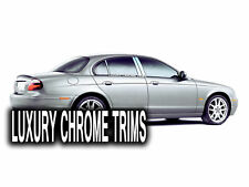 Jaguar S-Type Stainless Steel Chrome Pillar Posts by Luxury Trims 2000-2008 6pcs