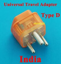 USA Australia UK to India Type D Universal Travel Adaptor AC Power Plug + Surge