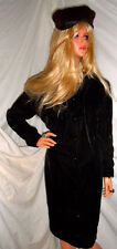 Stunning VINTAGE GUCCI BLACK 2 pc ENSEMBLE Dress Jacket 8 Just LOVELY!!! RaRe!!