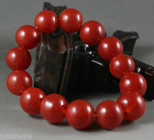 Beautiful China jade Chinese red jade Elastic bracelet