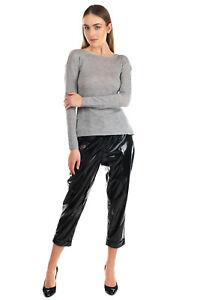 RRP€125 GENTE ROMA Cashmere & Merino Wool Jumper Size L Thin Knit Melange Effect