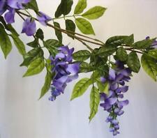 New Deluxe Purple Wisteria Garland Artificial Silk Flowers 210cm Long
