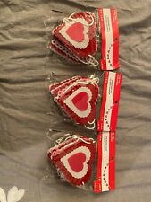 Valentines Day Heart Garland - 3 packs 6 feet each - unopened