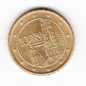 Pièce de monnaie 10 cent centimes euro Autriche 2007