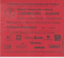 Sammler Used Ticket / Entrada Luxembourg v Albania 13-02-2002 Friendly