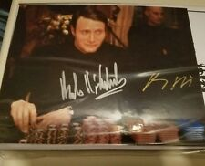 Mads Mikelsen Autographed photo ,Double Cast Signed.