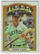 1972 TOPPS NORM CASH CARD #150 DETROIT TIGERS