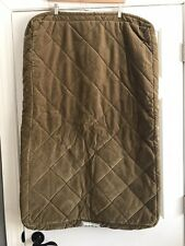 Orvis Medium 24x36 Brown Green Quilted Zip Close Dog Bed Cover