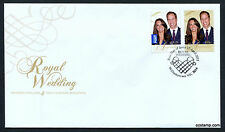 2011 Royal Wedding FDC First Day Cover Stamps Australia