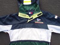 Vintage Tommy Hilfiger Sailing Gear Pullover Parka Jacket Size L Hoody Rain Ski