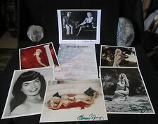 GROUP OF 6 PHOTOS OF BUNNY YEAGER'S WORK AND ORIGINAL SIGNED LETTER FROM BUNNY
