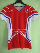 Maillot Equipe de France Volley Ball Femme Asics Rouge Vintage - L