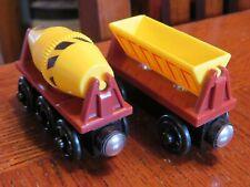 Thomas Friends Wooden Railway Train Sodor CEMENT MIXER & DUMPER Wood Engine