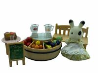 Calico Critters Sylvanian Families Juice Bar with Blackberry Rabbit