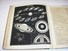 Rare 1848 Asa Smith Illustrated Astronomy w/28 Beautiful Plates Book
