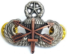 Special Forces Airborne MASTER Jump Wing ODA Badge SFG Pin Insignia Military SOG