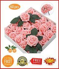 Centros De Mesa 60 Flores Rosas Artificiales Para Baby Shower Niña Bouquets Boda