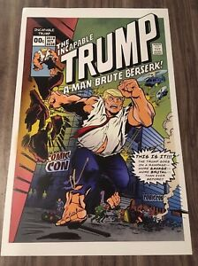 THE INCAPABLE TRUMP #00 SIGNED EXCLUSIVE NYCC Comic Con PROMO POSTER POP ART