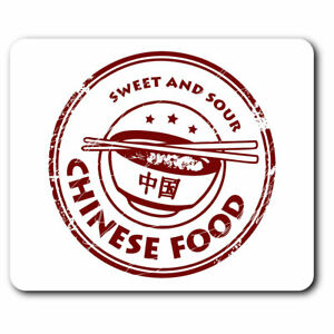 Computer Mouse Mat - Tasty Chinese Food China Restaurant Office Gift #7144