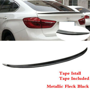P Style Painted #416 Carbon Black Metallic ABS Rear Tail Lip Deck Boot Wing Other Color Available By IKON MOTORSPORTS Pre-Painted Trunk Spoiler Compatible With 2015-2018 BMW F16 X6