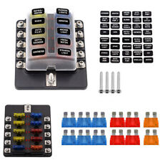 10-way auto car marine blade fuse box block holder with led indicator 20pcs  fuse