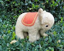 Kleiner Baby Elefant - Strohfüllung - Mohair - Antik Spielzeug Tiere 16x12x7cm