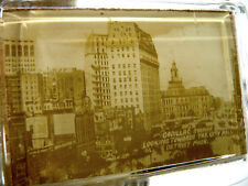 Detroit Michigan Photo Cadillac Square & City Hall Horses Pen Holder Paperweight