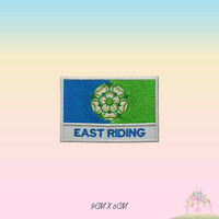 EAST RIDING UK County Flag With Name Embroidered Iron On Patch Sew On Badge