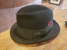 Vintage 1940s 1950s Royal Stetson John B Stetson Porkpie Hat 6 7/8 Black Ex