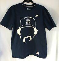 Nike Goose Gossage SS T-shirt Mens Large New York Yankees Baseball Navy