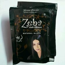 10 Packs Zeba Indian Herbal Henna Hina Black Hair Color Dye Amla Aritha Shikakai