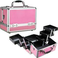 Sunrise Aluminum Makeup Train Cosmetic Jewelry Case Cosmetic Storage Box