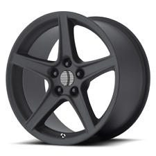Ford Mustang Saleen Style Wheel 18x9 +30 Matte Black 5x114.3 5x4.5 (QTY 1)