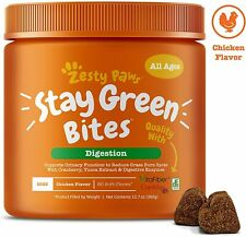 Zesty Paws Stay Green Bites for Dogs Grass Burn Soft Chews for Lawn Spots 90 Ct