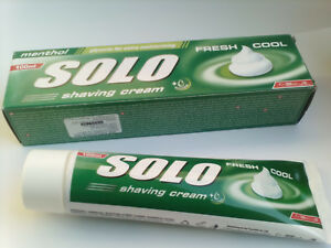 Shaving Cream SOLO - fresh cool (menthol) , 100 ml.