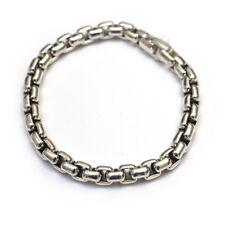 026f35c56abc New DAVID YURMAN Men s High Polish 7mm Box Chain Bracelet Sterling Silver  9