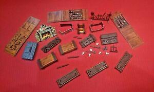 Heroquest Game Furniture Bundle Original Items Hero quest Spares Parts Extras MB