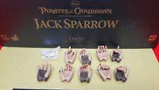 Genuine Disney Hot Toys DX06 POTC Captain Jack Sparrow 1:6 action figure 9 hands