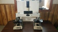Leitz Wetzlar forensic comparison microscope with Olympus BH2's and camera mount
