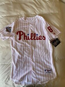 MAJESTIC AUTHENTIC 44 RYAN HOWARD PHILLIES PIN STRIPE 2008 WS NWT JERSEY