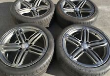 "AUDI Q7 OEM FACTORY GENUINE SPEEDLINE  21"" GUNMATEL GRAY WHEELS TIRES & CAPS SET"