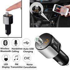 Nuevo transmisor FM Bluetooth Cargador Adaptador de radio inalámbrica 2USB 3.1A reproductor de Mp3