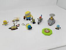 9 Minion Toys - Car, Wind Up Minion , Motorbike, Keychains & Egyptian Minion etc