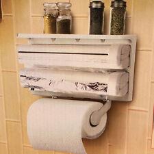 Cucina rotolo di carta Dispenser triplo per Pellicola Trasparente Wrap foglio di alluminio